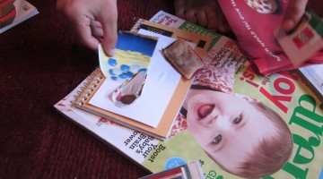 making writing fun with a mini-me collage
