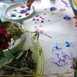 backyard painting–with nature