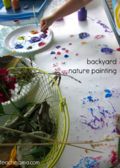 backyard painting--with nature