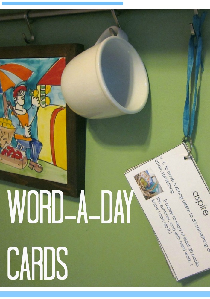 word a day cards