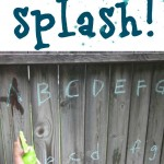 alphabet letter splash–keeping cool with the abc's