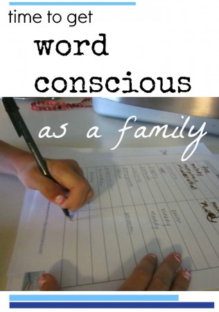 get word conscious as a family cover