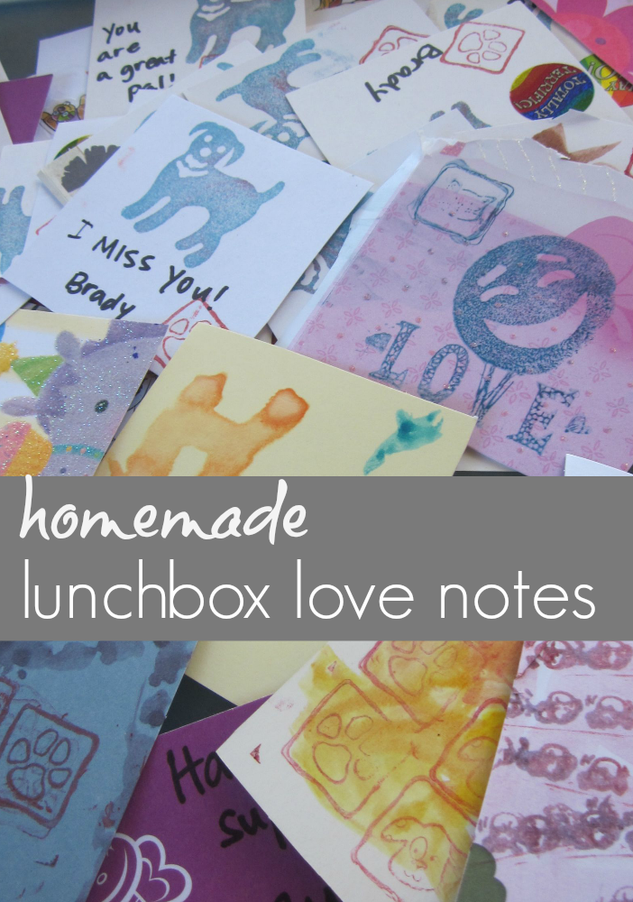 homemade lunchbox love notes