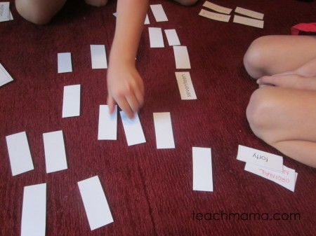 spelling word fun memory 2