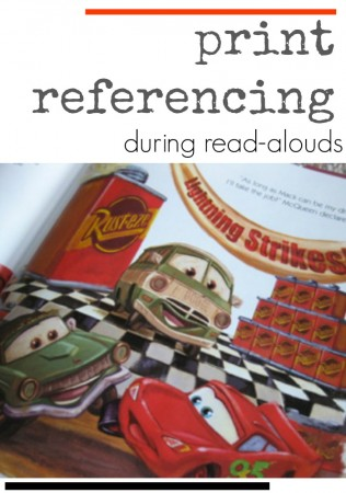 learning during read-alouds: print referencing