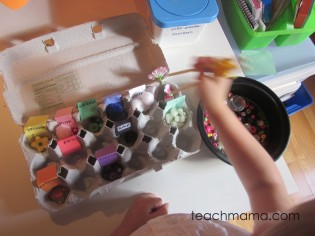 sorting egg carton