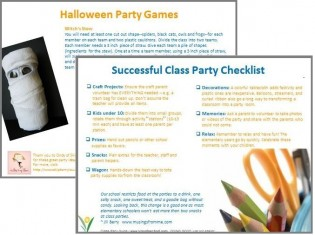 Classroom Party Guide VoluneerSpot free eBook ideas