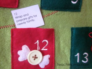 holiday advent activity calendar