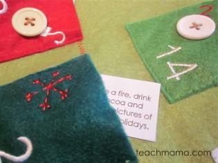 holiday advent activity calendar