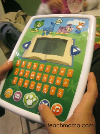 new for us friday: LeapFrog Story Time Pad (& giveaway!)