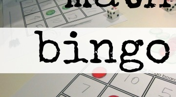 math bingo: fun ways to play with numbers