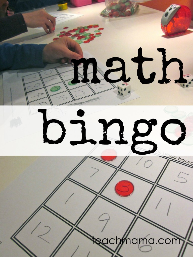 math bingo cover