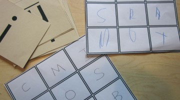 build your own bingo games: uppercase and lowercase letter match