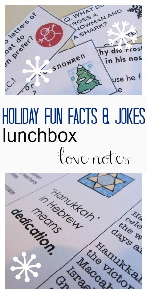 holiday fun facts and lunchbox joke notes | teachmama.com