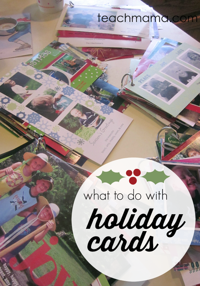 what to do with holiday cards | teachmama.com