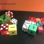practicing math facts with crazy, mixed-up dice: math games for kids