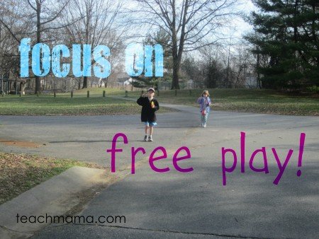 focus on free play