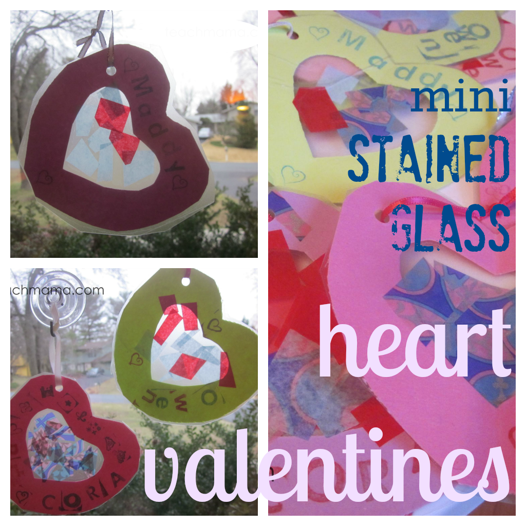 sweet mini stained glass heart valentines cover