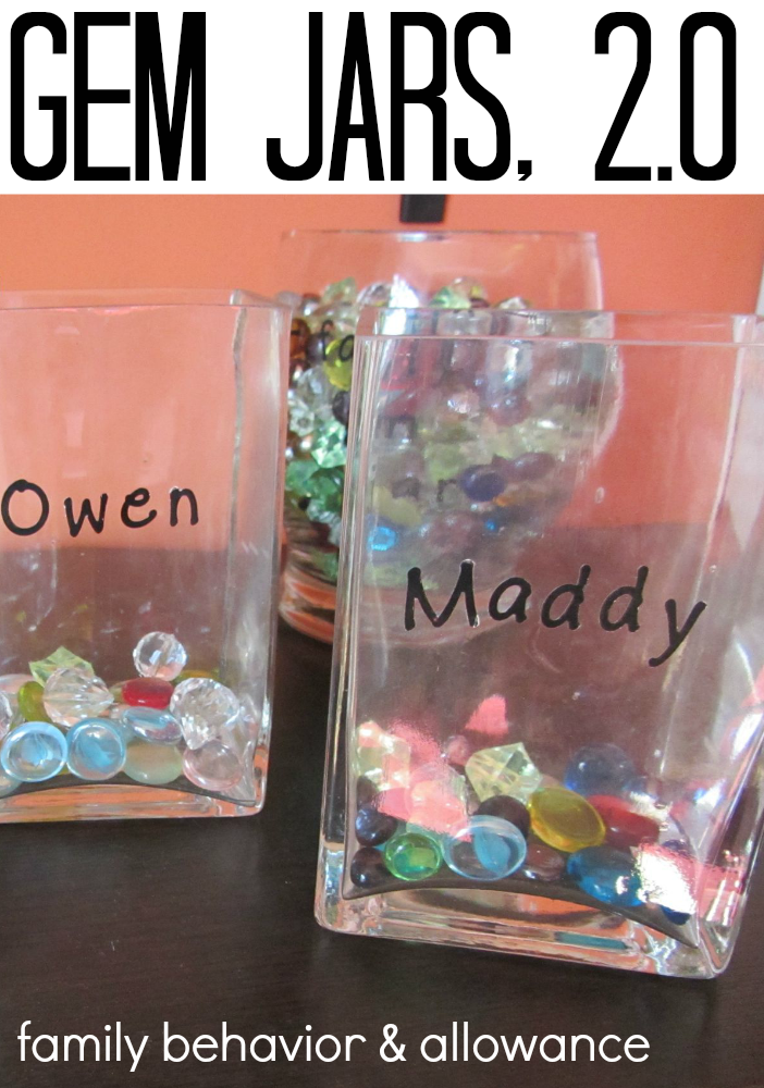 gem jars 2.0 for managing kids behavior and allowance at home