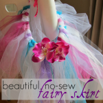 how to make beautiful, no-sew fairy skirts