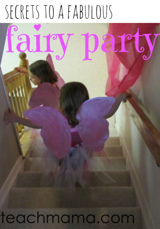 secrets to a fabulous, at-home fairy princess spa party