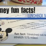 disney fun fact lunchbox notes