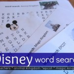 disney word searches: getting kids ready for the trip!