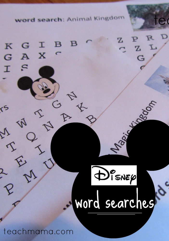disney word searches  teachmama.com