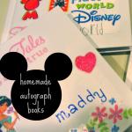 homemade disney autograph books