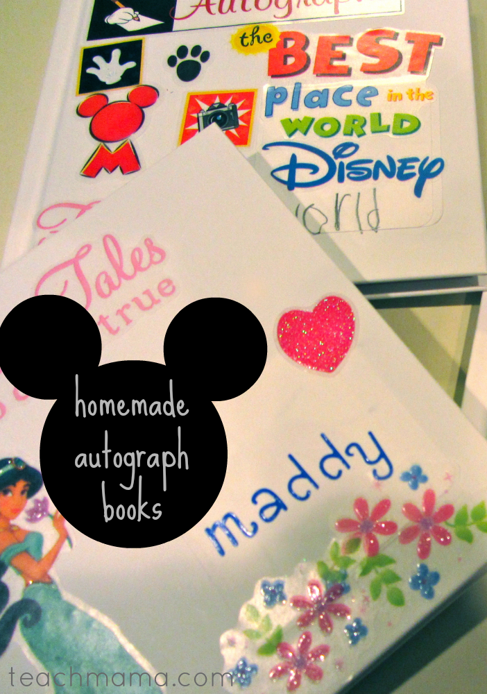 homemade disney autograph books teachmama.com