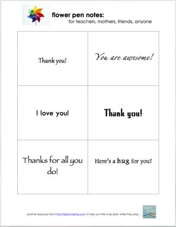 flower pen notes | teachmama.com