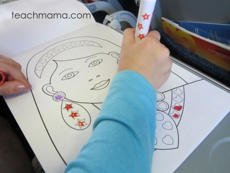 new for us friday: fine motor FUN with stamp markers