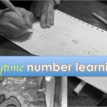 counting, identifying, and writing numbers during play