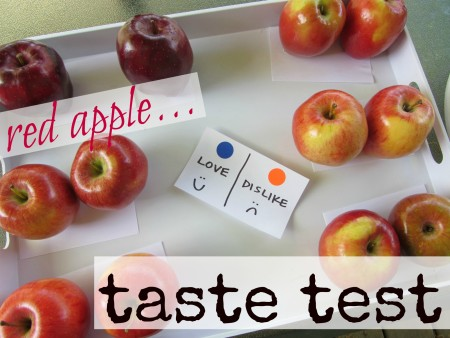 red apple taste test cover