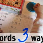 words 3 ways: learning sight words for kindergarten
