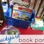 kicking off summer reading: backyard book party