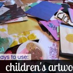 what to do with children's artwork
