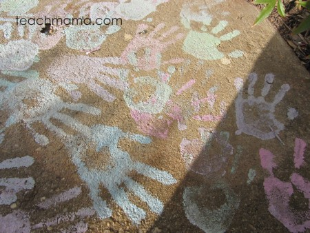 chalk paint graffiti: a happy welcome home