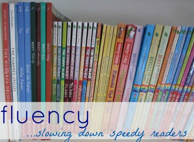how to slow down speedy readers