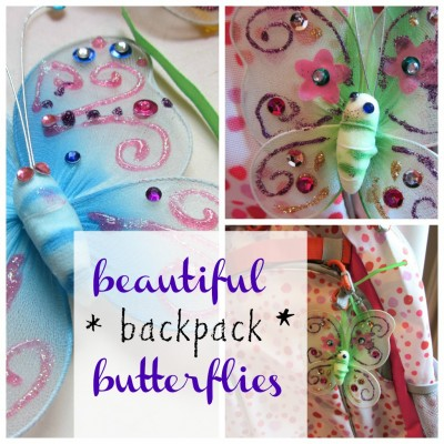 beautiful backpack butterflies