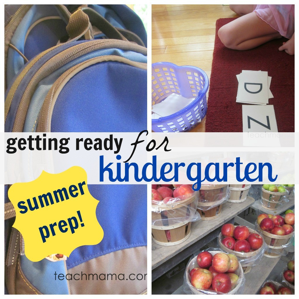 how to get your child ready for kindergarten: summertime prep
