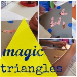 magic triangles: hands-on math game