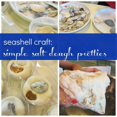 seashell craft: salt dough pretties