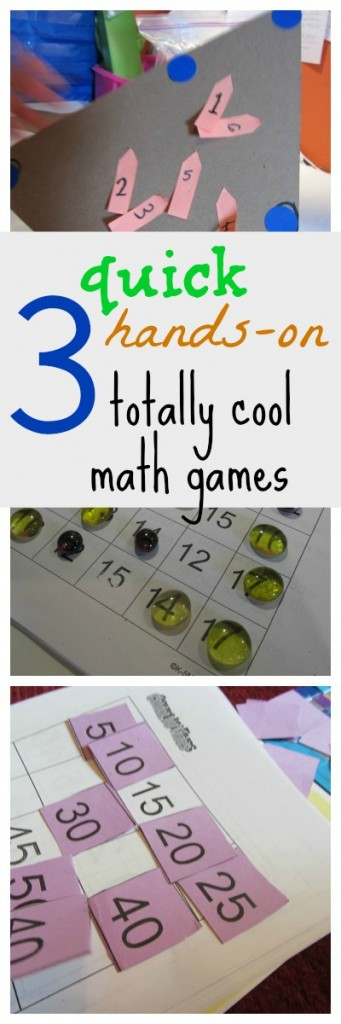 3 hands on math games pinterest cover
