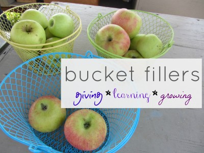 family bucket fillers: giving learning growing