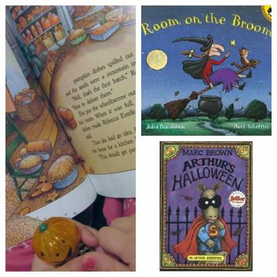 hallowen book collage