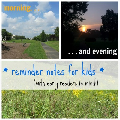 morning evening schedule for early readers