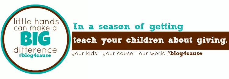 teach your children giving this holiday: #blog4cause