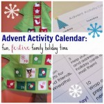 advent activity calendar: fun, festive family holiday time