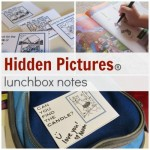 Hidden Pictures: lunchbox notes